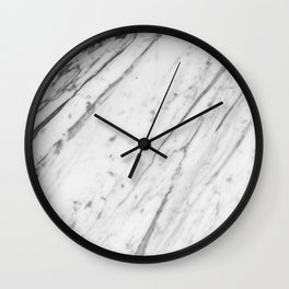 Classic White Marble #2 #decor #art #society6 Wall Clock