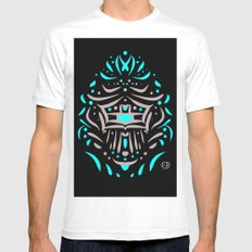 Temple of faces White MEDIUM Mens Fitted Tee