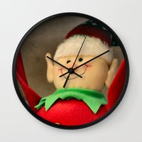 dentist Wall Clocks featuring I wanna be a dentist but my arms are too floppy! by IowaShots