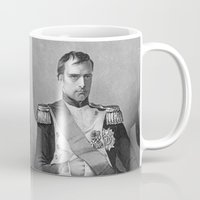 napoleon Mugs featuring Napoleon by Palazzo Art Gallery