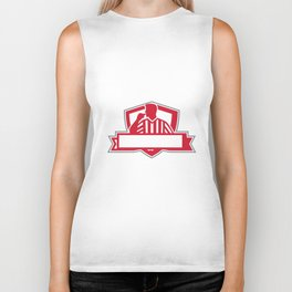 Referee Umpire Official Whistle Side Crest Retro Biker Tank