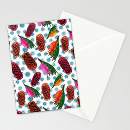 Beautiful Australian Native Floral Print - Grevillea and Beehive Ginger Stationery Cards