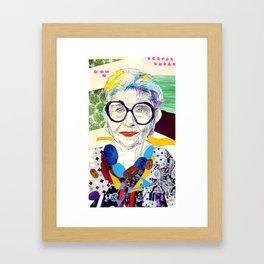 Iris Apfel Fanart Framed Art Print