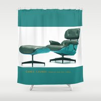 eames Shower Curtains featuring Eames by Retale