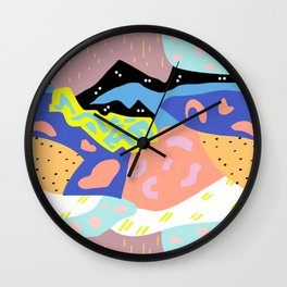 Abstract Postmodern Landscape Wall Clock