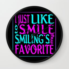 I Like Smiling Wall Clock