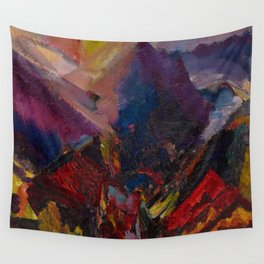 'Sunrise in the mountains, picos de asturias' by David Bomberg Wall Tapestry