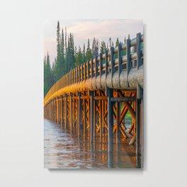 Yellowstone National Park Fishing Bridge Print Metal Print