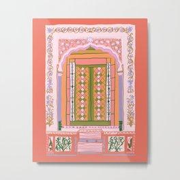 moroccan door in peach Metal Print