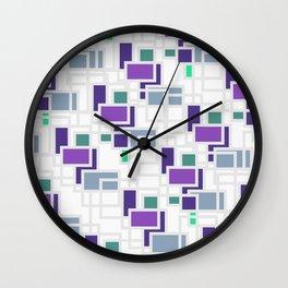 Purple geometry Wall Clock