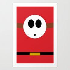 Minimalist Shy Guy Art Print