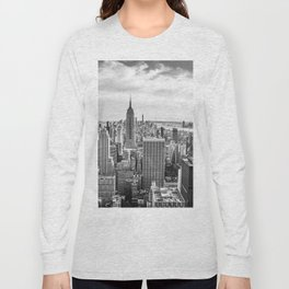 New York City Cityscape (Black and White) Long Sleeve T-shirt