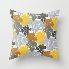 Acer Bouquets - Golds & Silvers Throw Pillow