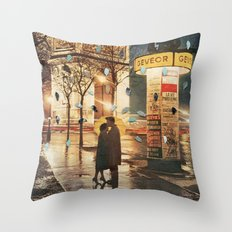 Rain Cant Touch Us Throw Pillow