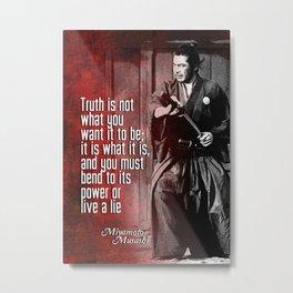 Misashi Samurai - The Truth Metal Print