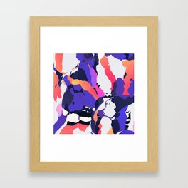 The purple color is turning peachy Framed Art Print