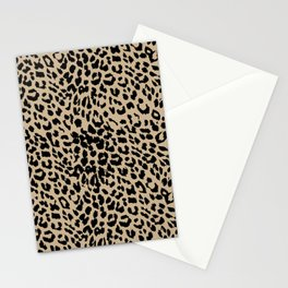 Leopard Almon Buff Stationery Cards