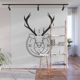 Hunters head Wall Mural