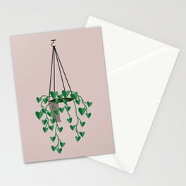 hanging house plant Stationery Cards
