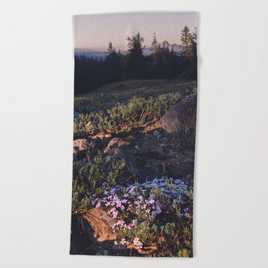 Wildflowers at Dawn Beach Towel