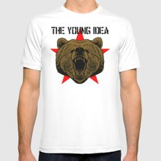 The Young Idea - Grizzly Logo MEDIUM White Mens Fitted Tee