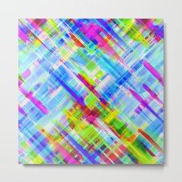 Colorful digital art splashing G468 Metal Print