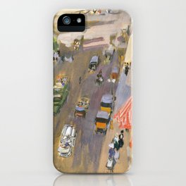 Fifth Avenue New York By Joaquin Sorolla iPhone Case