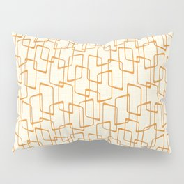 Retro Reverse Orange Geometric Pattern Pillow Sham