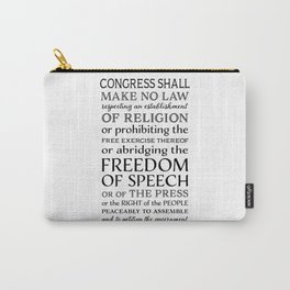 First Amendment Fundamental Freedoms Carry-All Pouch
