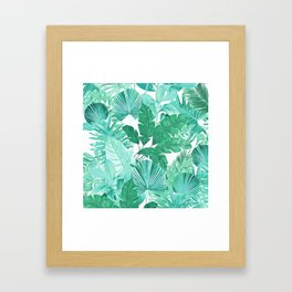 Tropical Leaf Green Framed Art Print