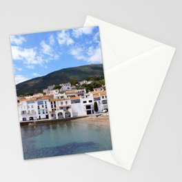 Old village of Cadaques Spain Stationery Cards