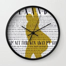 Alexander Hamilton Lyrics Wall Clock