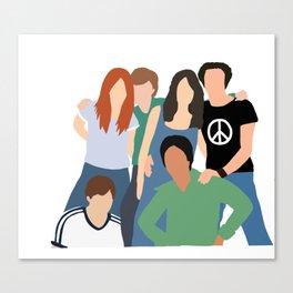 70s crew Canvas Print