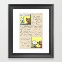 Antics #333 - healthy living made easy Framed Art Print