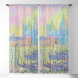 """Paul Signac """"Grand Canal (Venise)"""" Sheer Curtain"""