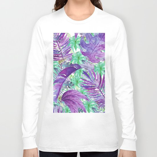 leaves and flowers Long Sleeve T-shirt