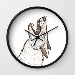 Open Mouth Wall Clock