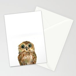 watercolor painting owl Stationery Cards