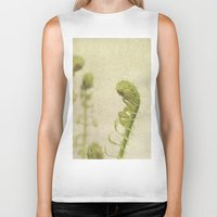 fern Biker Tanks featuring Fern by Pure Nature Photos