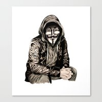 gangster Canvas Prints featuring Anonymous Gangster by 13 Styx