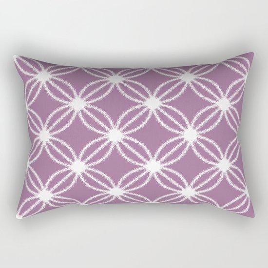 Abstract Circle Dots Purple Rectangular Pillow