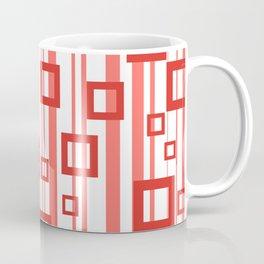 Rectangle orange Stripes white Coffee Mug
