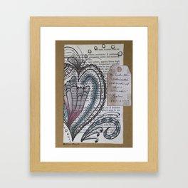 """""""He Heals the Broken Hearted"""" Framed Art Print"""