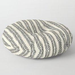 Mud Cloth - Black and White Arrowheads Floor Pillow