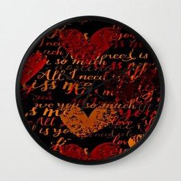 Kiss Me, Miss Me Red Wall Clock
