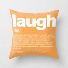 definition LLL - Laugh Throw Pillow