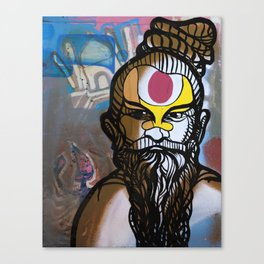 Jai Guru Deva, Om Canvas Print