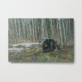 Walking by a forest Metal Print