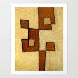 Protoglifo 01 'brown yell' Art Print