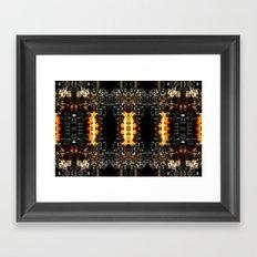 Owl Black-Recut Fractal 18-08-2010 Framed Art Print